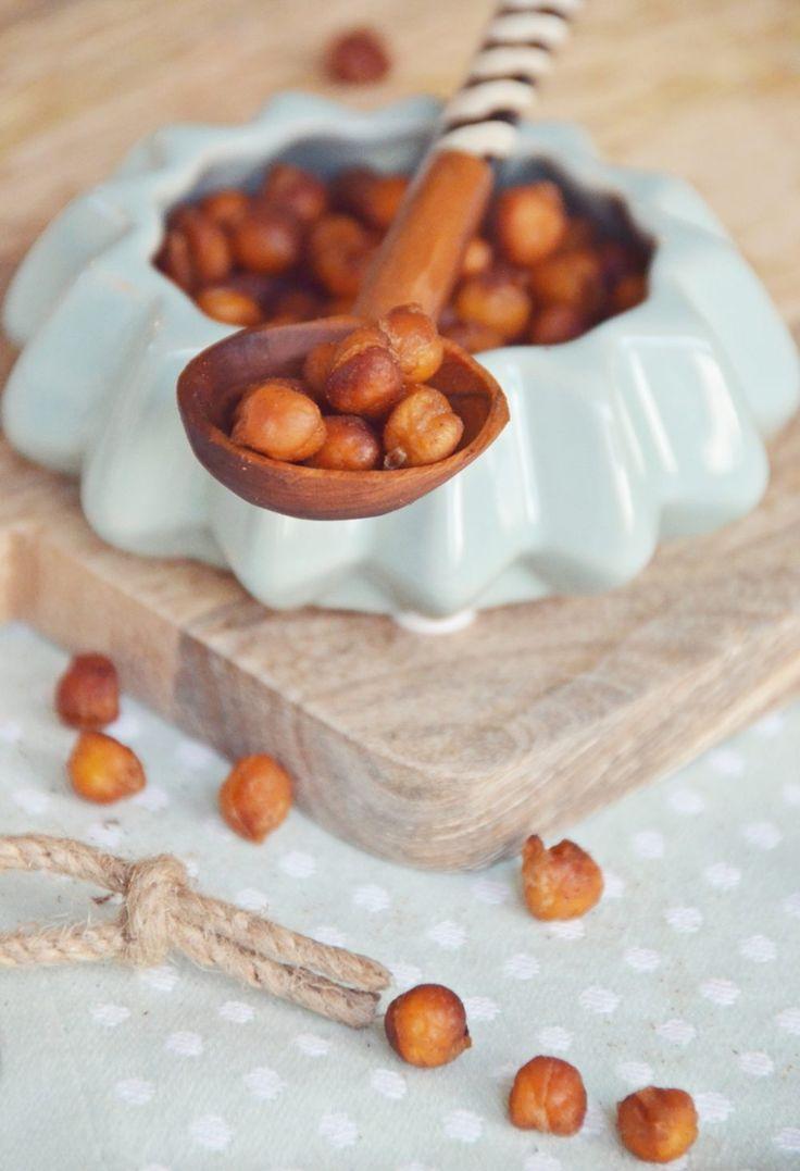 Rezept für geröstete Kichererbsen zum Knabbern - mit Honig und Zimt | luzia pimpinella FOOD