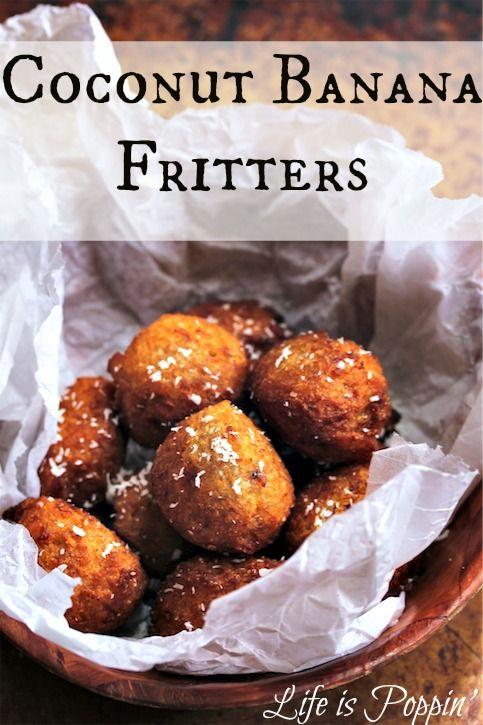 Coconut Banana Fritters Coconut banana fritters are super-easy to make ...