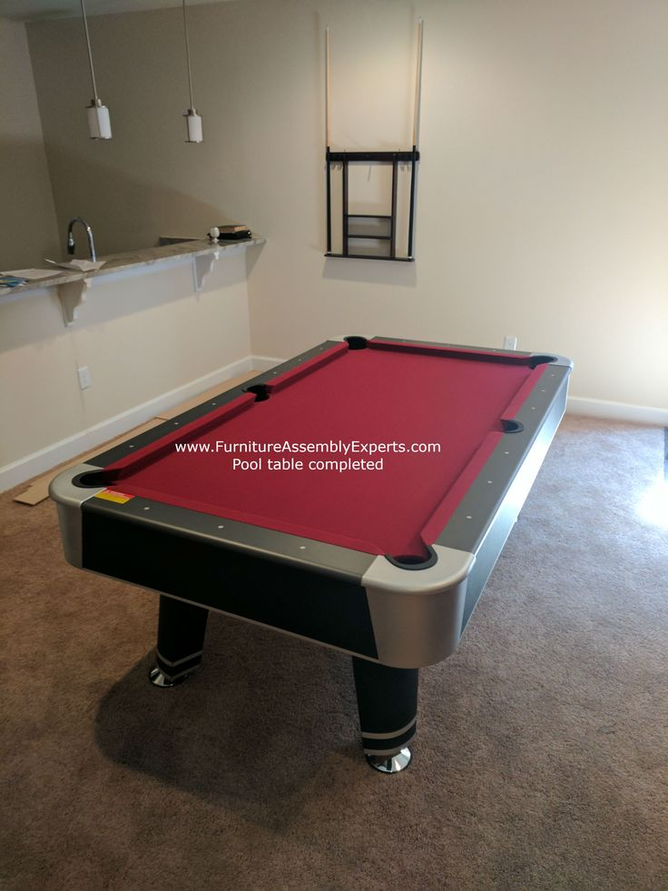 Billiard pool table assembly and installation specialist in Washington DC - Maryland - Virginia - Delaware - Philadelphia.  check out this Mizerak pool table assembled for a customer in ellicott city Maryland Call 240-764-6143 to get yours assembled or book service online at  Same day service - Next day service