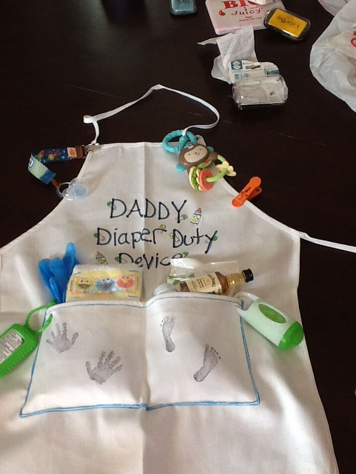 daddy diaper duty device apron made this for my brother