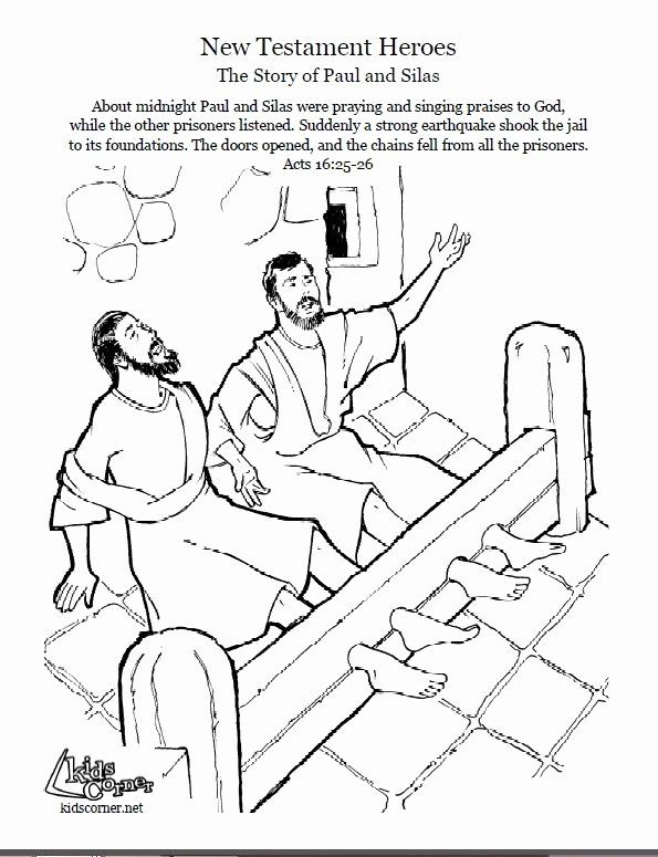 Paul and Silas In Jail Coloring Page Best Of 55 Best Bible