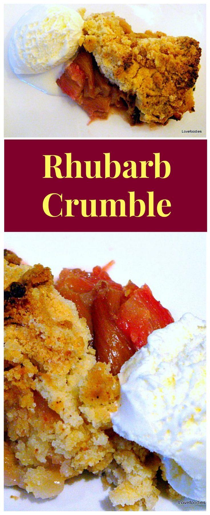 Rhubarb Crumble / Cobbler. A wonderful warm dessert, and ...