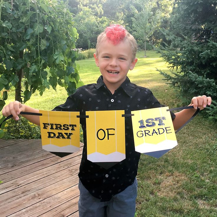 First & Last Day of School Bunting Banner Photo Prop | BigDotOfHappiness.com