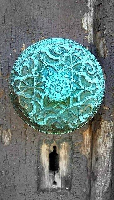 beautiful old door knob