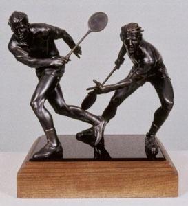 Squash bronze sculpture.