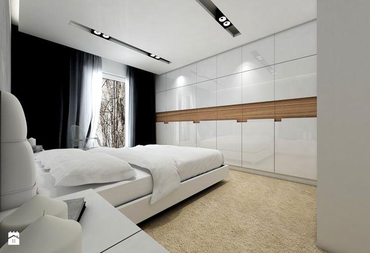 Projekt mieszkania I - Średnia sypialnia małżeńska, styl nowoczesny - zdjęcie od Premiere Design