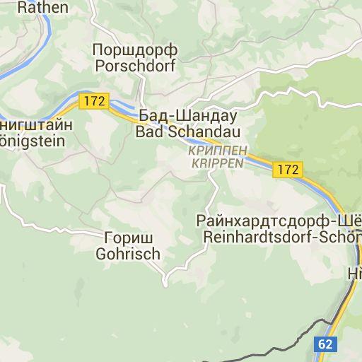 Karte - Wanderweg Malerweg Elbsandsteingebirge, Sächsische Schweiz
