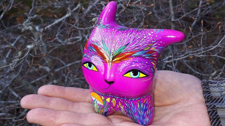 Cat mystic spring. Ceramic Ocarina. Animal sculpture. by Jivizvuk on Etsy