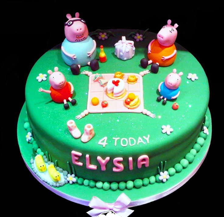 peppa pig birthday cake designs