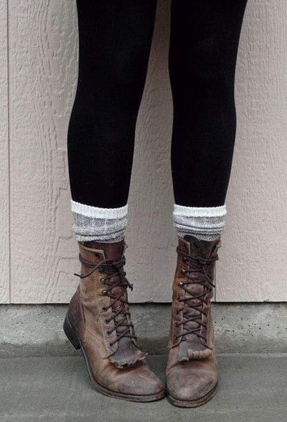 boots combat vintage old leather help cute grunge combat boots