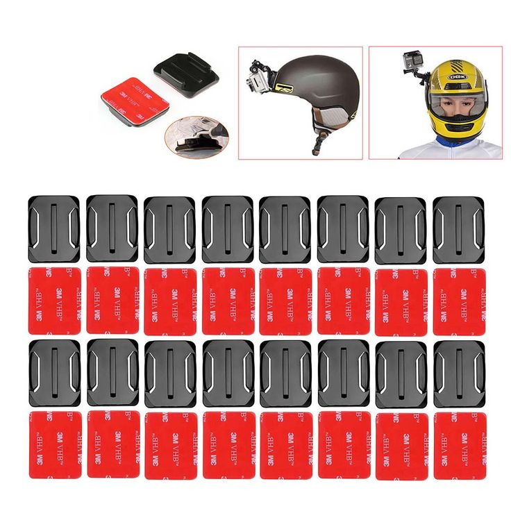 16pcs/set Go Pro Helmet Accessories 16pcs Curved Adhesive Mounts+ Sticker For Gopro Hero 4 3+3 2 1 Camera Sport Dv SJ4000/5000 //Price: $11.72      #FirstDayOfSummer