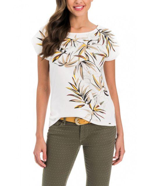 0c5a22ea6 Camiseta de mujer Salsa regular estampado de manga corta · Moda · El ...