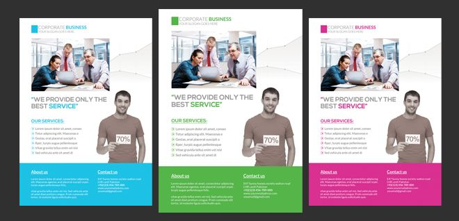 Corporate Flyer Free Psd Template | Free PSD Files, Free PSD Templates, Free Flyers, Free Website Themes, Free PSD Mockups, Free Photoshop Actions