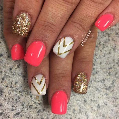 Best 25+ Hot nail designs ideas on Pinterest | Pink summer nails ...