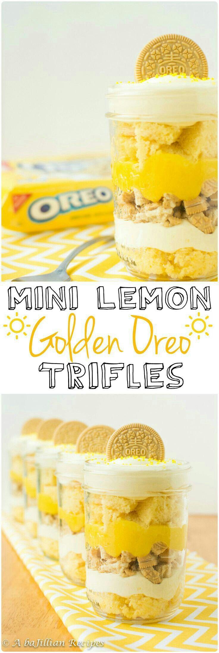 Mini Lemon Golden Oreo Trifles