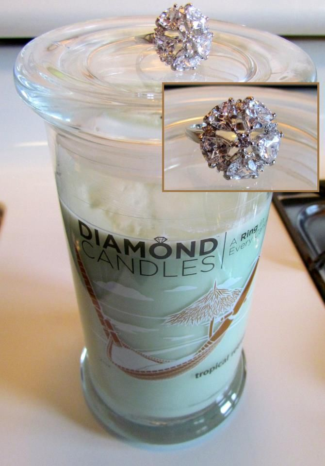 SUCH an awesome gift idea! A diamond ring from $10-$5000 inside every jar! Only $25 per candle!