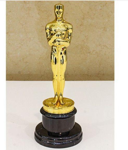 أسلوب جديد حجم replica جوائز أوسكار الأصلي ، سبائك الزنك جائزة أوسكار نسخة ، 1: 1 الذهب مطلي جوائز أوسكار
