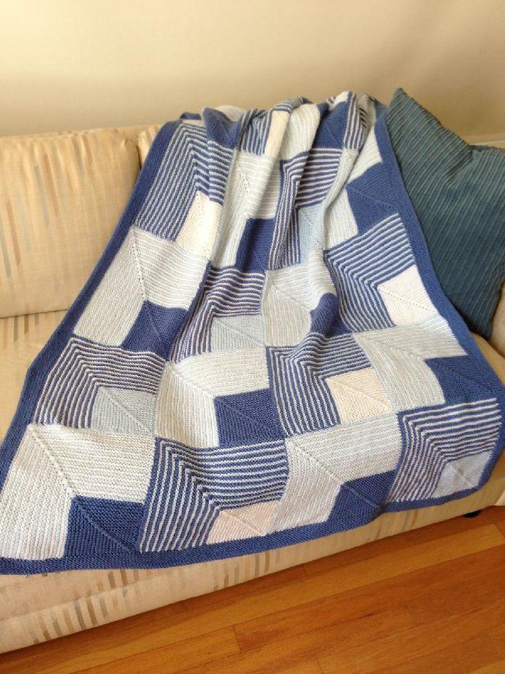 Mitered Squares Baby Afghan or Lap Robe Knitting pattern by Margaret Holzmann | Knitting Patterns | LoveKnitting