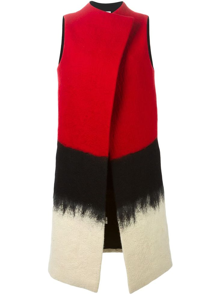 SYBILLA felted long vest
