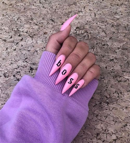 40 Best Acrylic Stiletto Nails Designs Trends for You – Nail Art Connect#Stilett…