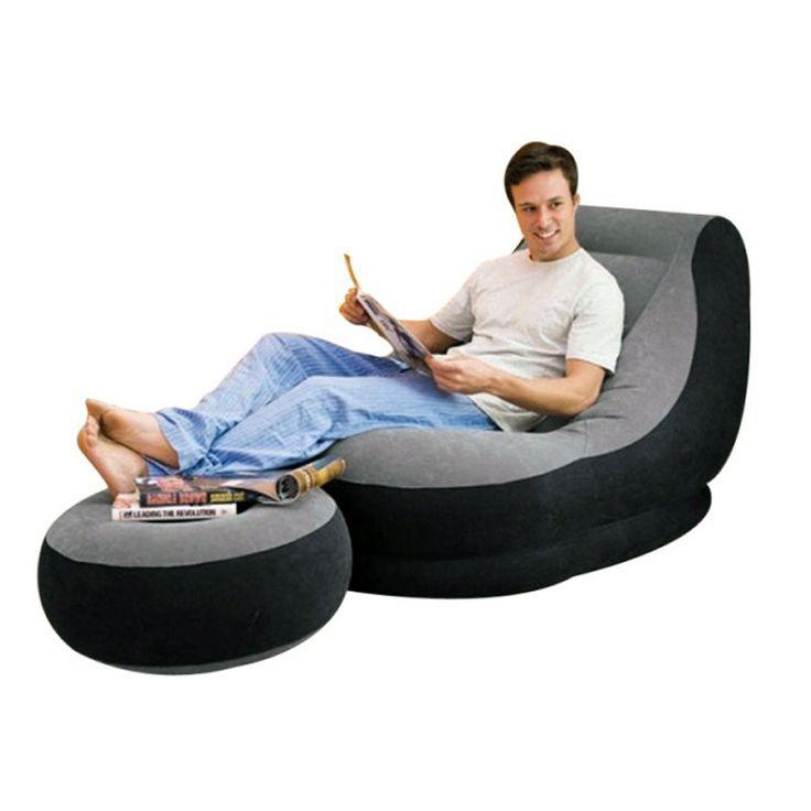 Fotoliu si taburet gonflabil, Ultra Lounge | STOCSHOP