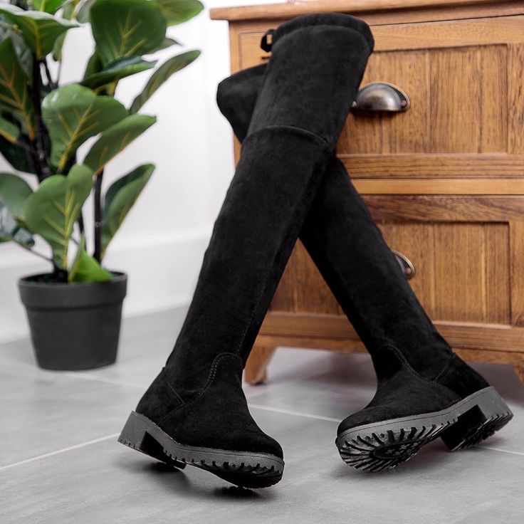 2019 Female Winter Boots Thigh High <b>Boots Women Over the</b> Knee ...
