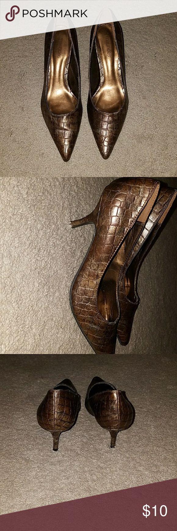 Women's Maurice Brand HIGH HEELS Copper/metallic textured super cute high heels. Worn once Maurices Shoes Heels
