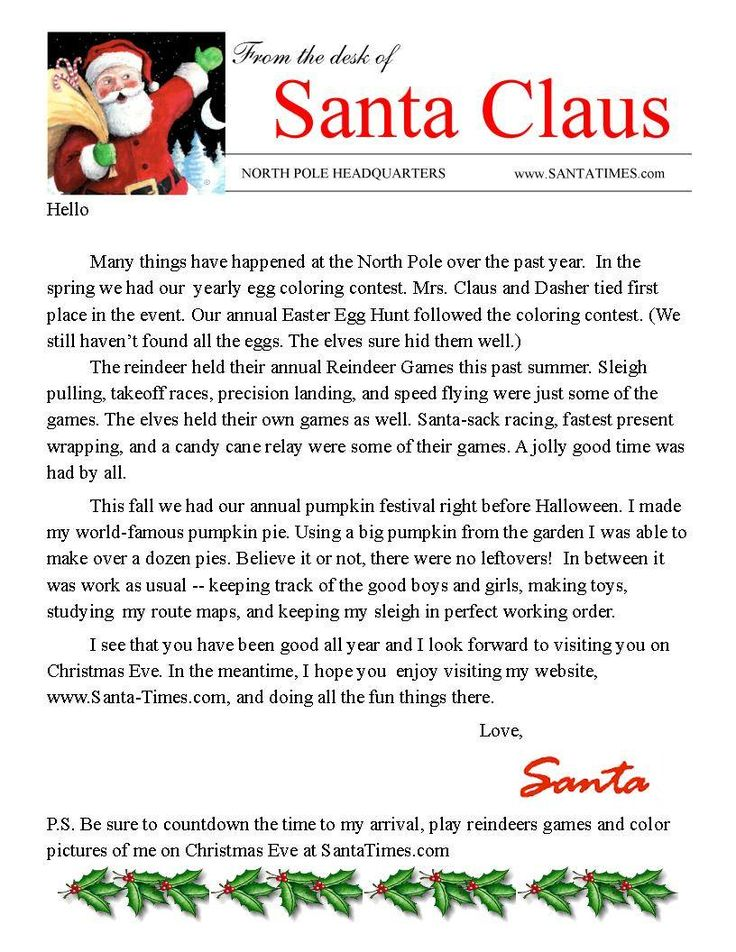 A Santa Letter You Can Personalize Parents Need From For