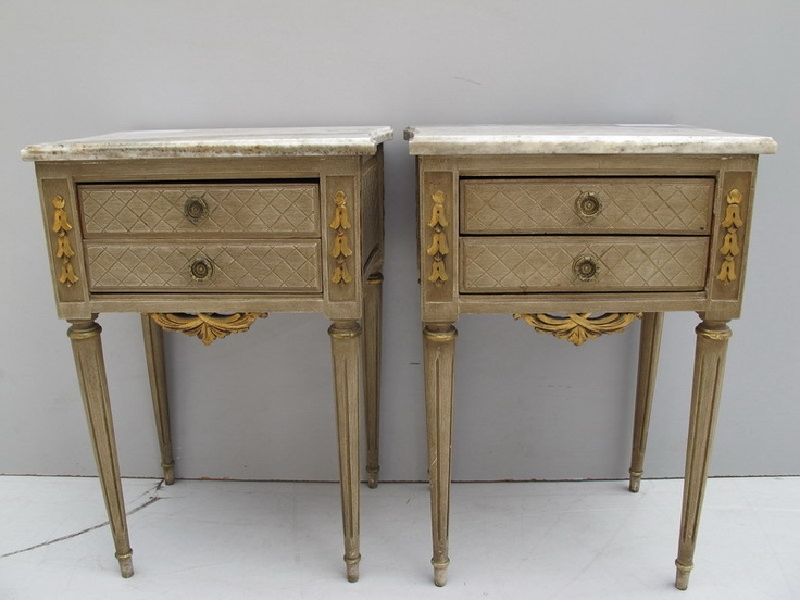 Pair of French Louis XVI patinated nightstands # 08476 | eBay