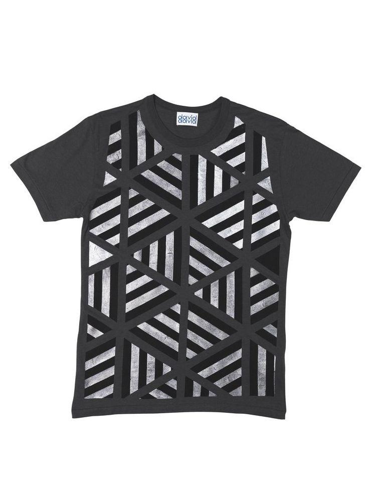 David David® — Hand painted t-shirt, Metallic 6 Equal Sides daviddavid.bigcartel.com