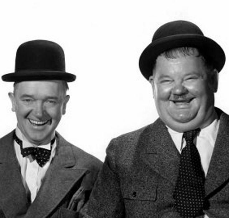 Laurel and Hardy, oh how I loved them when I was little! saturday mornings in the middle fifties was all laurel and hardy.