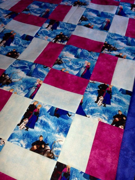 Frozen Handmade Quilt by RosehillQuilting on Etsy