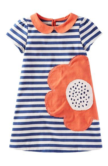 Mini Boden 'Retro' Stripe Cotton Jersey Dress (Toddler Girls, Little Girls & Big Girls) available at #Nordstrom