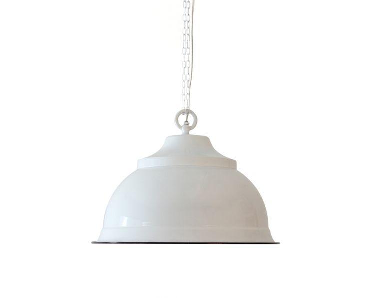 White Powder Coated Pendant (Round) - Lighting | Weylandts