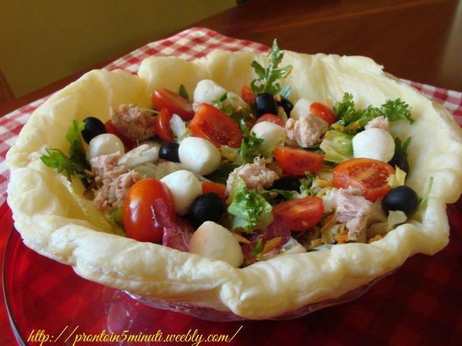 Cestino croccante d'insalata, Ricetta da Prontoin5minuti - Petitchef