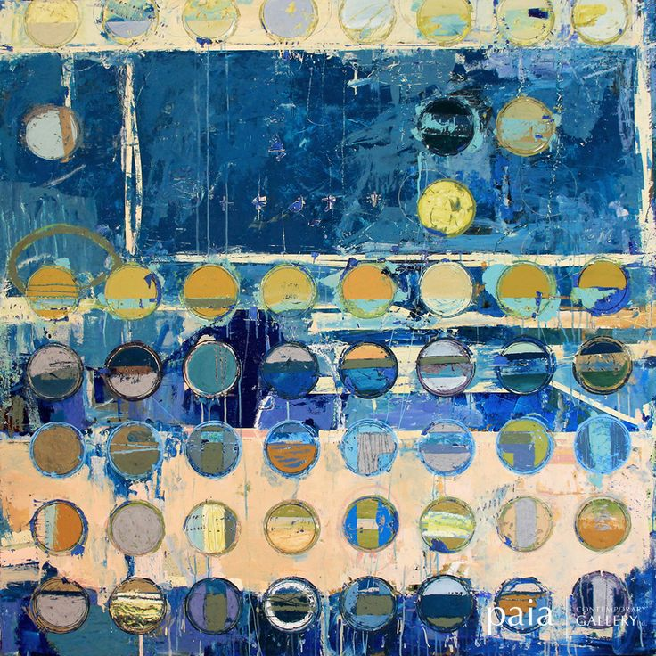 Fibonacci 116 - by Jylian Gustlin - mixed media - 60 x 60 inches - year 2013 - at Paia Contemporary Gallery