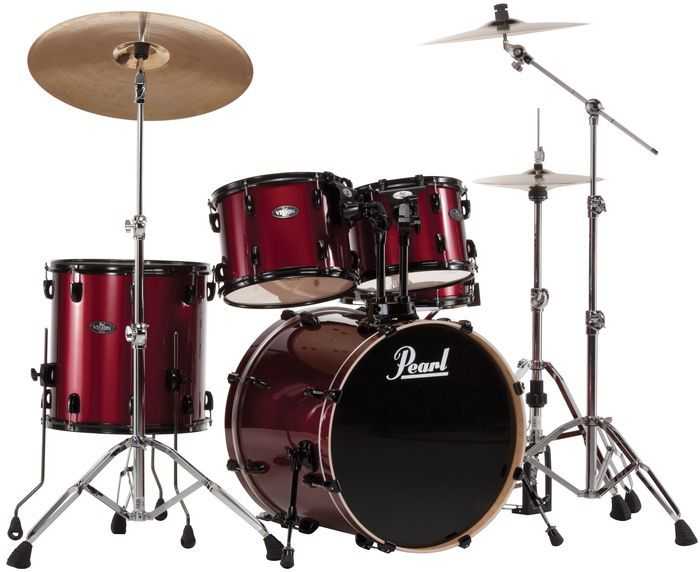 pearl vision vx 5 piece new fusion shell pack 699 pearl drums pinterest shells red and. Black Bedroom Furniture Sets. Home Design Ideas