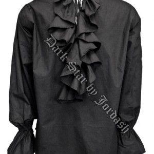 Camicia Goth Style con Increspatura da uomo stile Goth Vittoriano, per gli amanti dell'opulenza #gotico #goth #uomo #fashion #moda