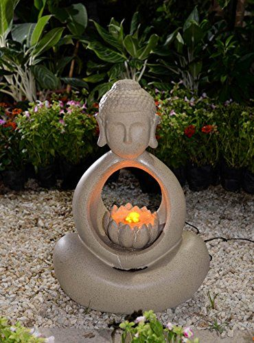 Buddha water fountain with led light jeco http www amazon com dp