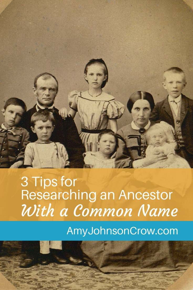 Researching an ancestor with a common name can be tough. Here are some tips to help you sort them out and find the right one. via @amyjohnsoncrow