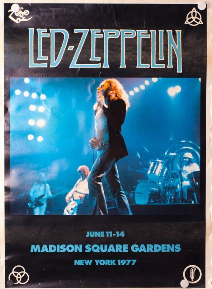 OHH-AA-I Havent lost my mind my mind lost me — Led Zeppelin 1977 Madison Square Garden, New York...