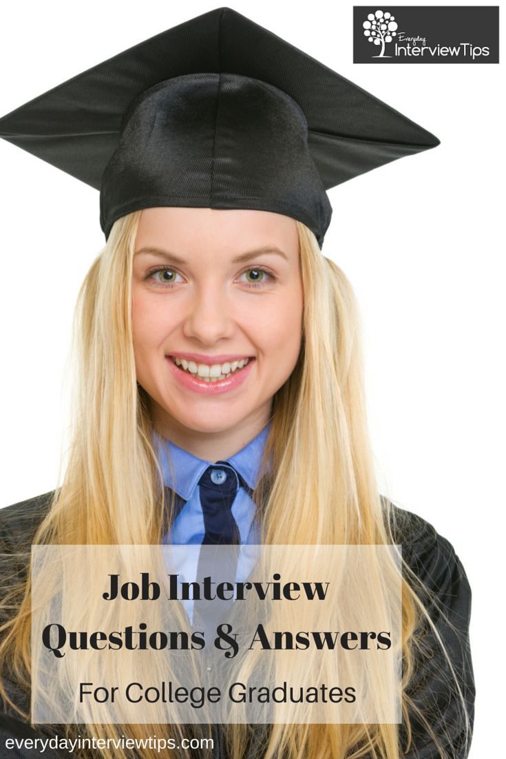 Job Interview Questions For College Graduates  Http://www.everydayinterviewtips.com/