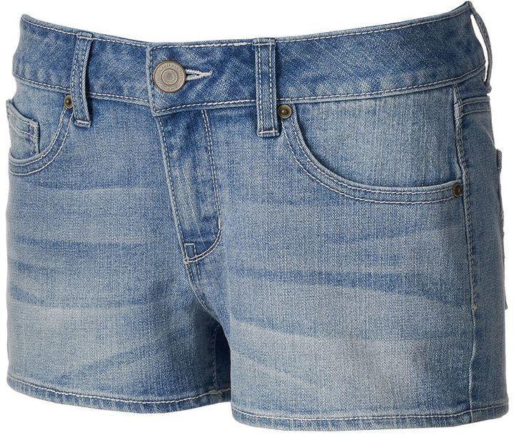 Juniors' SO® Denim Shortie Shorts