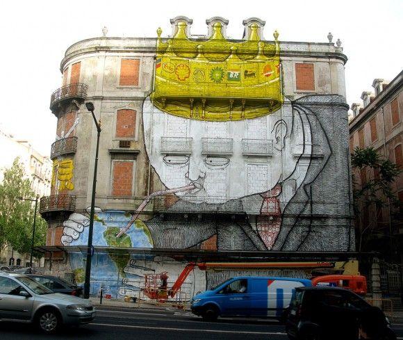 Os Gemeos Blu street art (6) - Lisbon
