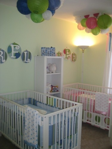 Nursery organization a collection of ideas to try about for Baby twin bedroom ideas