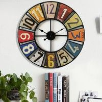 Package Contents: 1 x Coloured Wall Clock Technical Specifications: Material: Iron Form: Singl