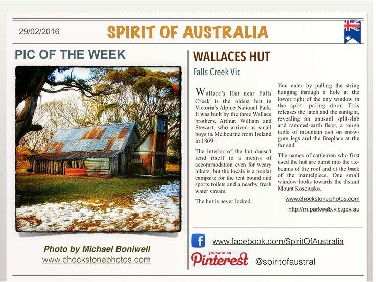 WALLACES HUT Victoria Australia #wallaceshut, #victoria, #spiritofaustralia, #alpine, #michaelboniwell, #fallscreek