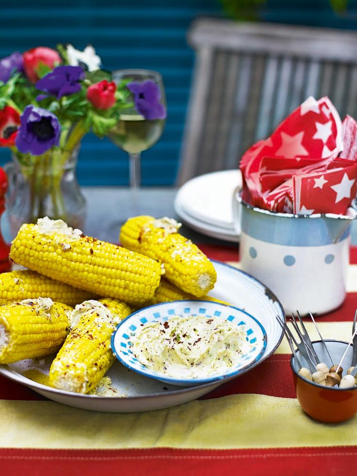 A barbecue wouldn't be complete without some buttered corn on the cob. We're big fans of this zesty steamed corn on the cob recipe with lime and chilli butter.