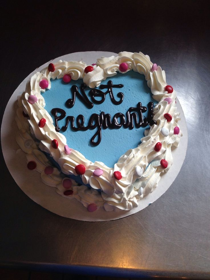 Not Pregnant Cake