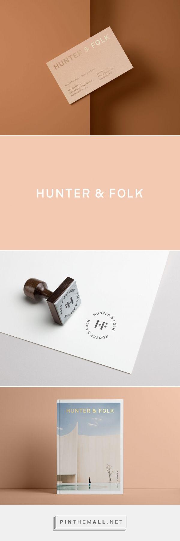 Hunter & Folk business card & website design— Cristie Stevens Cartes de visite – Inspiration cartes de visite design et originales
